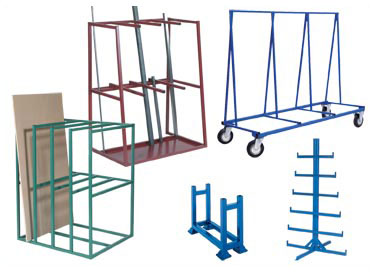 Bar Cradles, Bar Racks, Horizontal and Vertical Sheet Racks