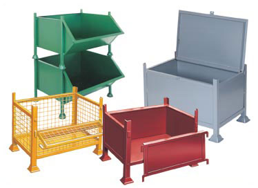 Standard Pallets, Post Rack Pallets, Chute Front Pallets, Bin Pallets, Corrugated Pallets, Flat Pallets, Storage Chests, Swarf and Refuse Tipping Trucks