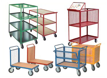 Platform and Box Trucks, Turntable Trucks, Workshop and Shelf Trolleys, Mesh Sided Trucks